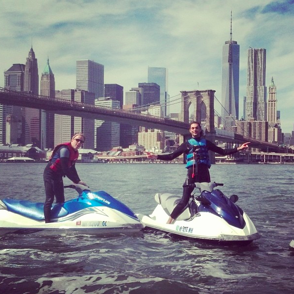 Jet Ski Brooklyn Bridge