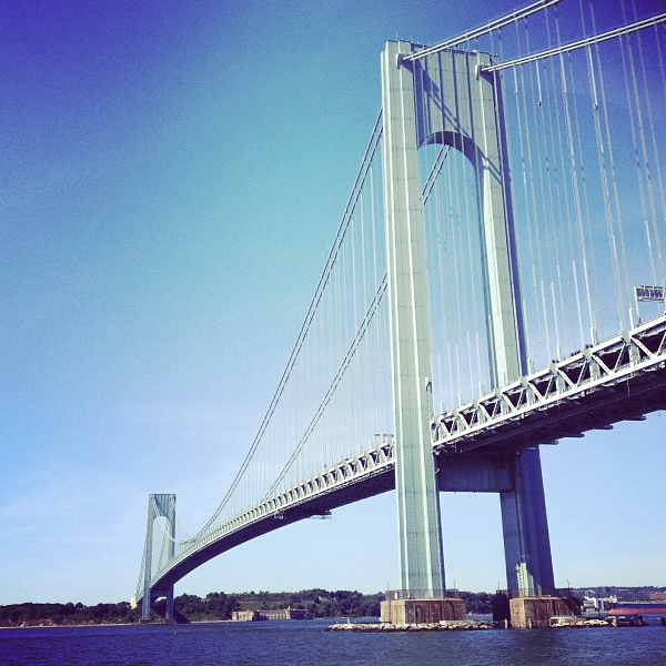 Verrazano Bridge up close
